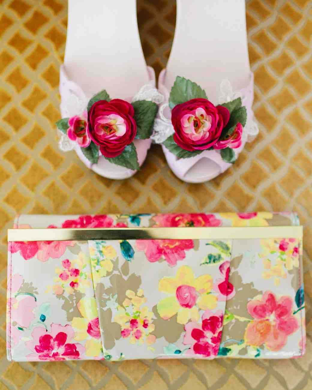 Clogs with Flower Embellishments