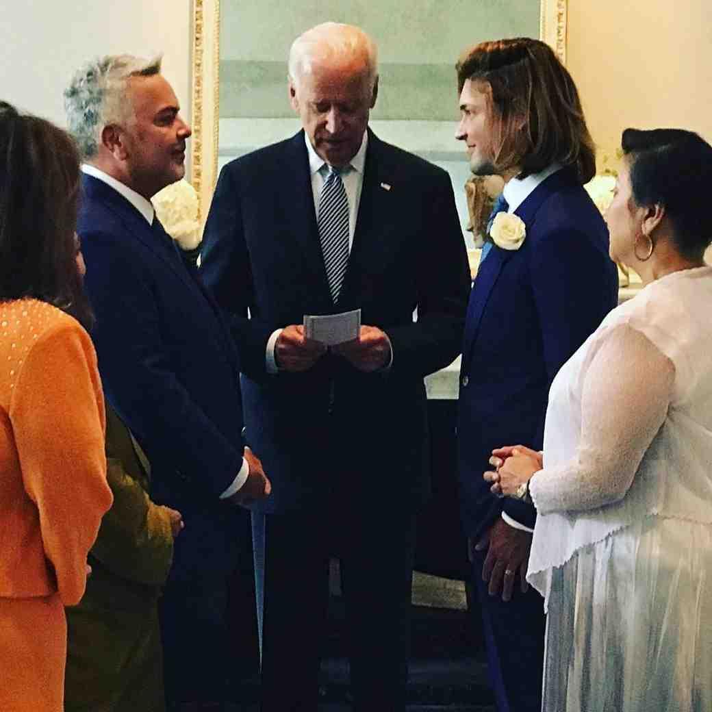 Joe Biden Officiates White House Staffer Wedding