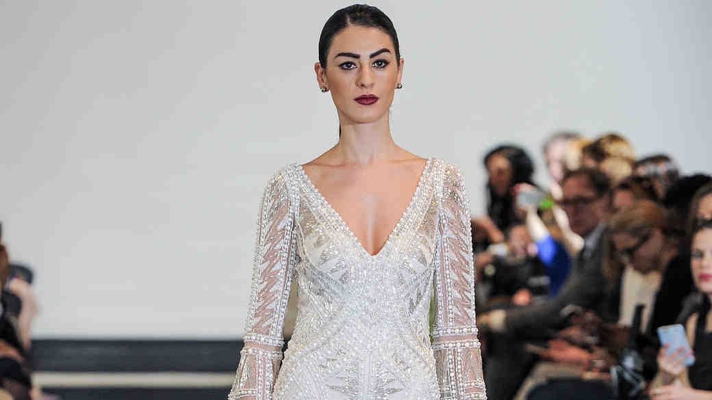 Justin Alexander Beaded Sheath Wedding Dress Spring 2018