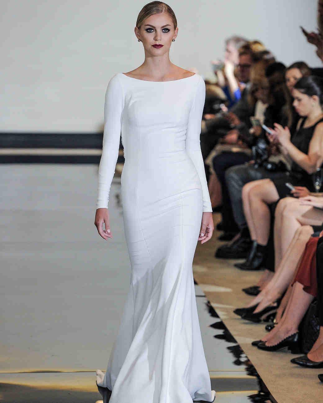 Justin Alexander Mermaid Wedding Dress with Long Sleeves Spring 2018
