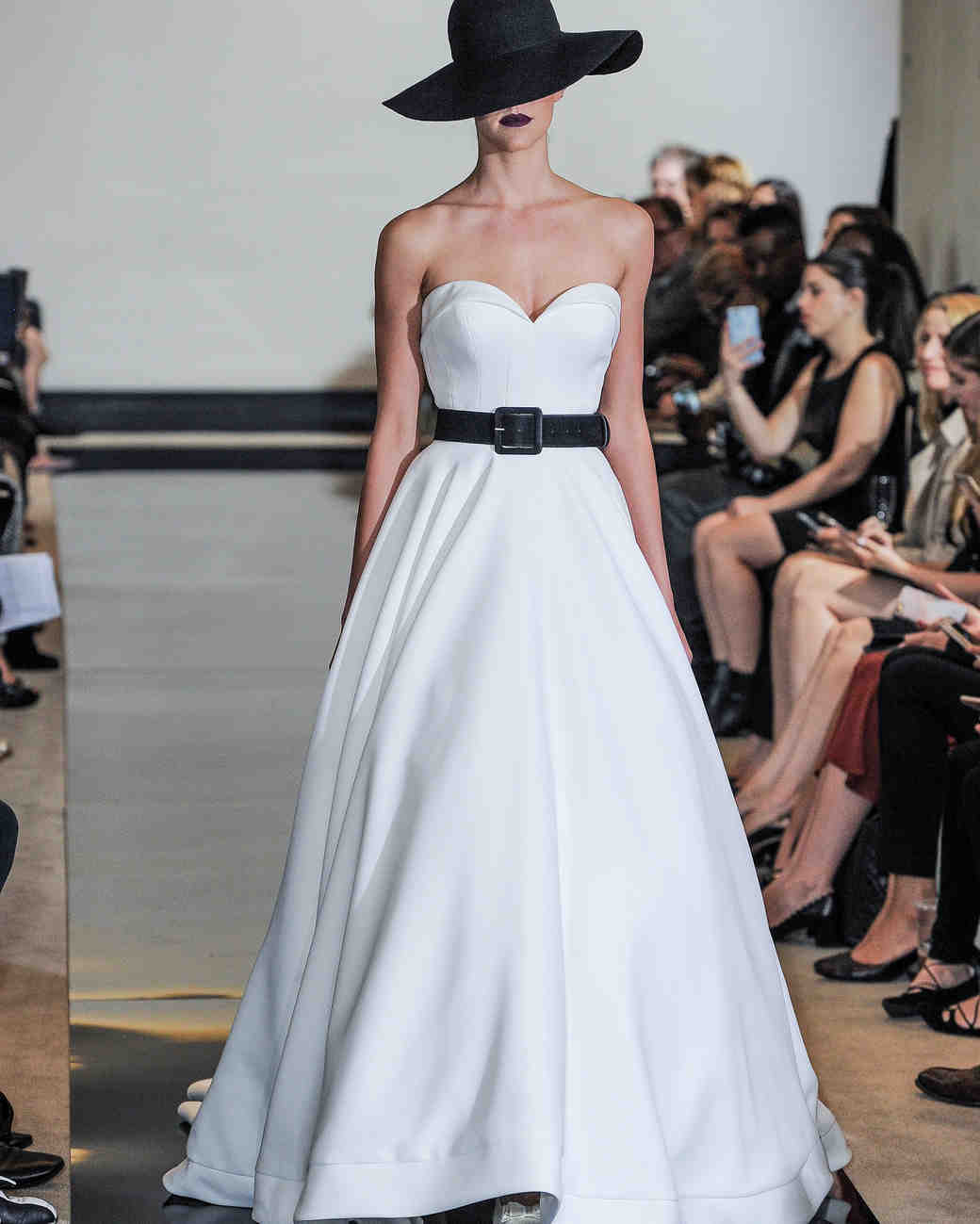 Justin Alexander Strapless A-Line Wedding Dress Spring 2018