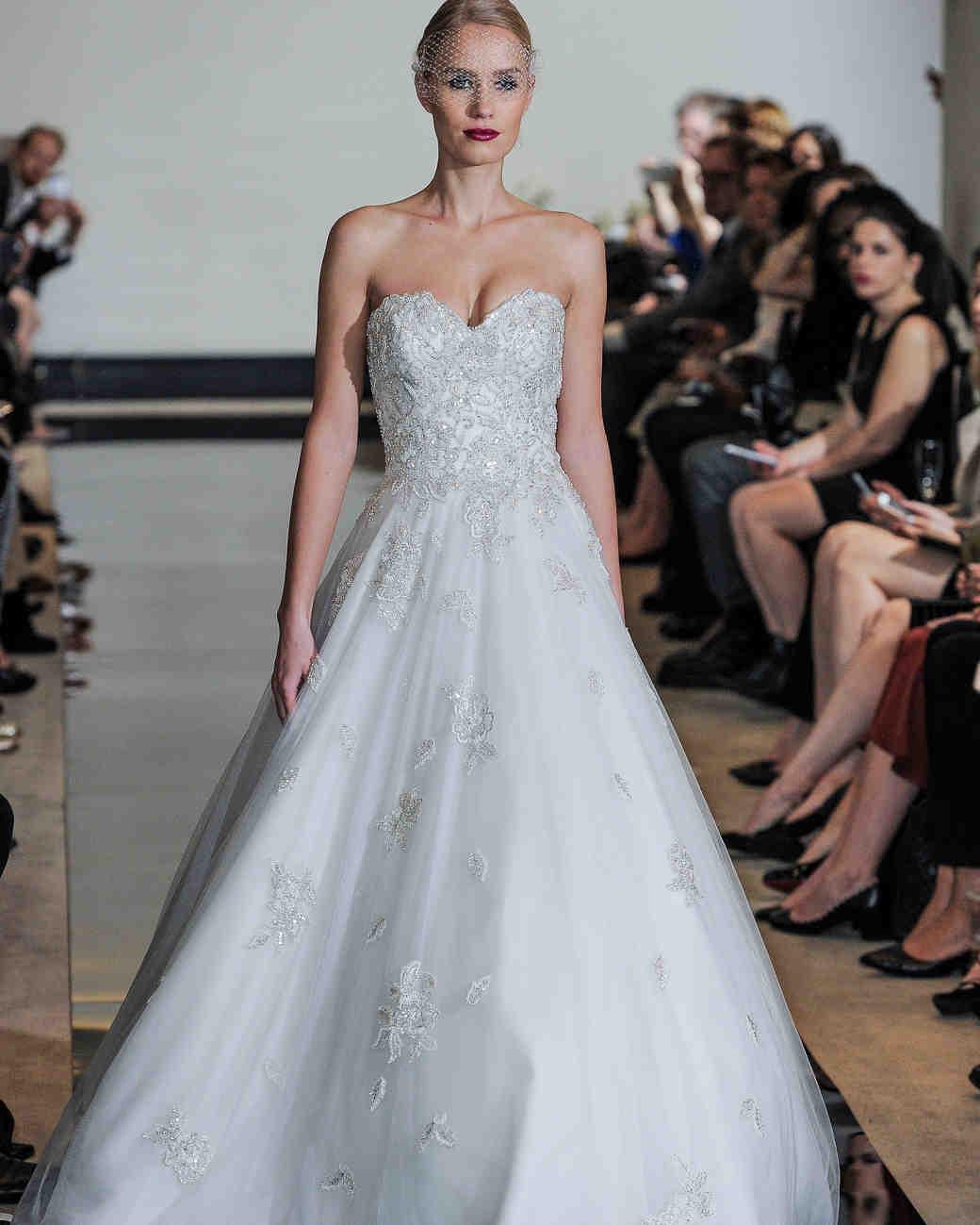 Justin Alexander Beaded A-Line Wedding Dress Spring 2018