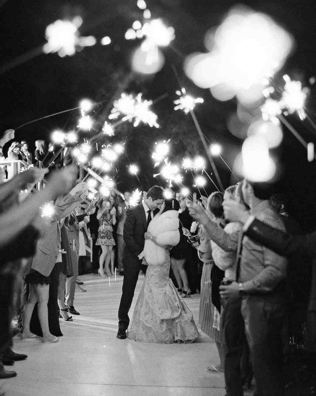 kalen boyd wedding sparklers