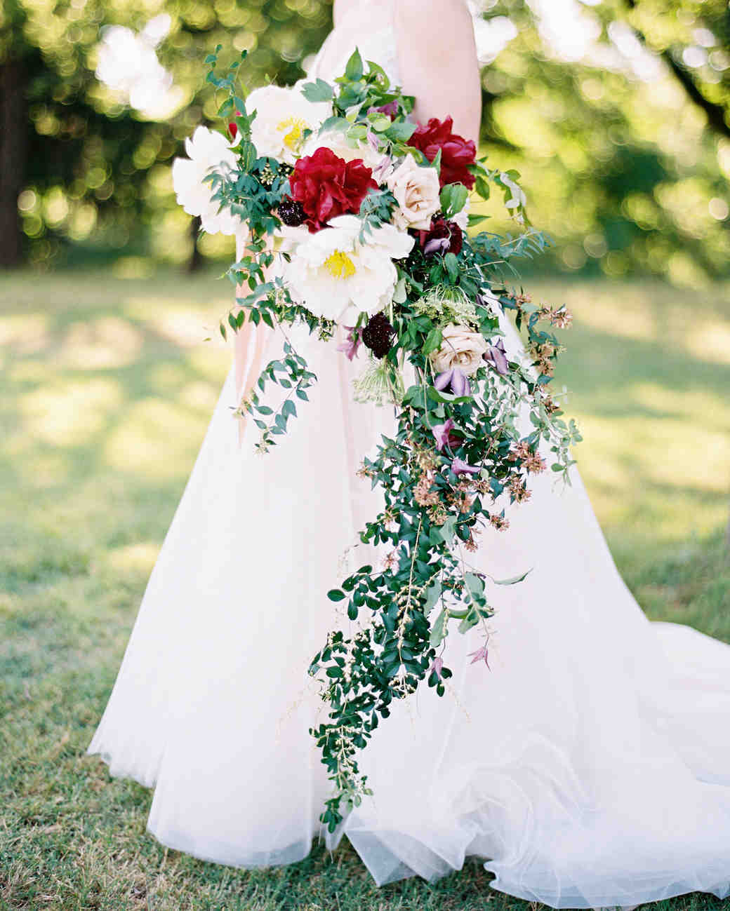Flowers Wedding Ideas: 40 Chic Cascading Wedding Bouquets