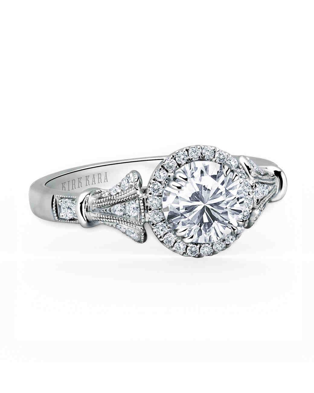 Kirk Kara White Gold Engagement Ring