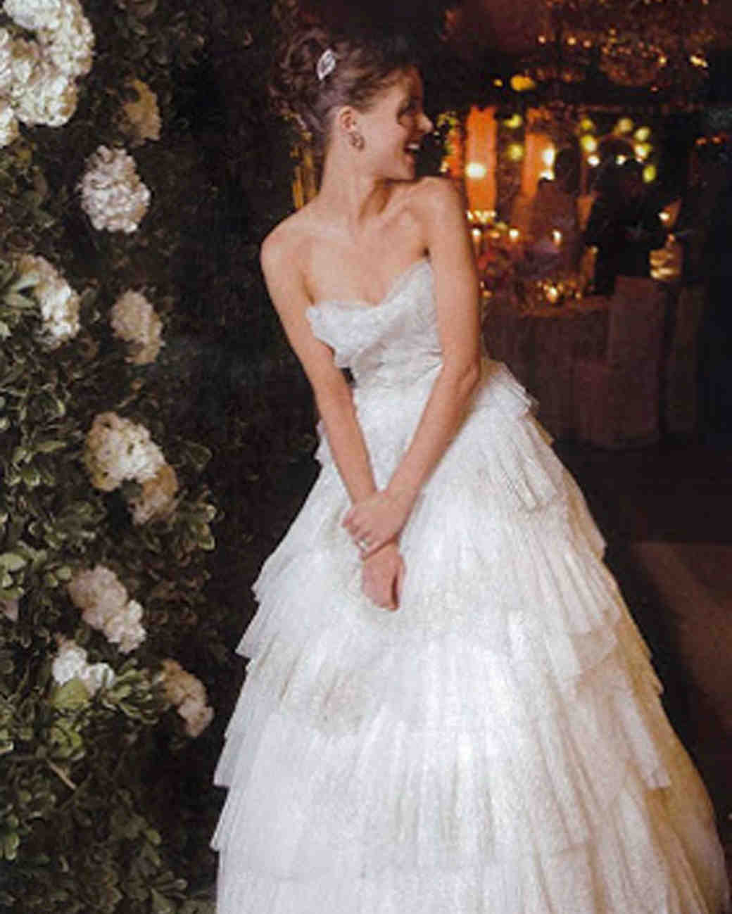Marchesa Designer Georgina Chapman Wedding Photo