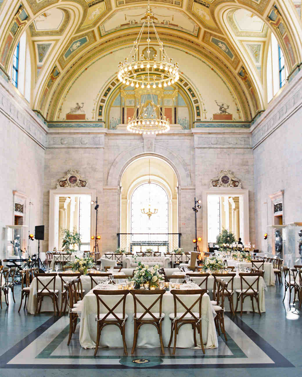 meki ian wedding michigan great hall tables