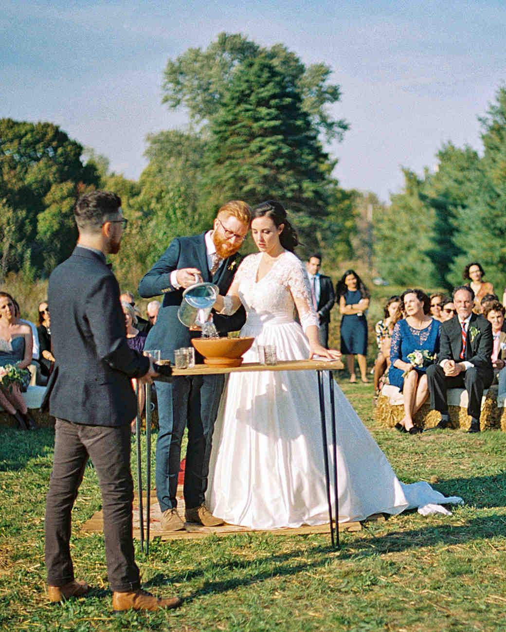 rachel elijah wedding ceremony watering