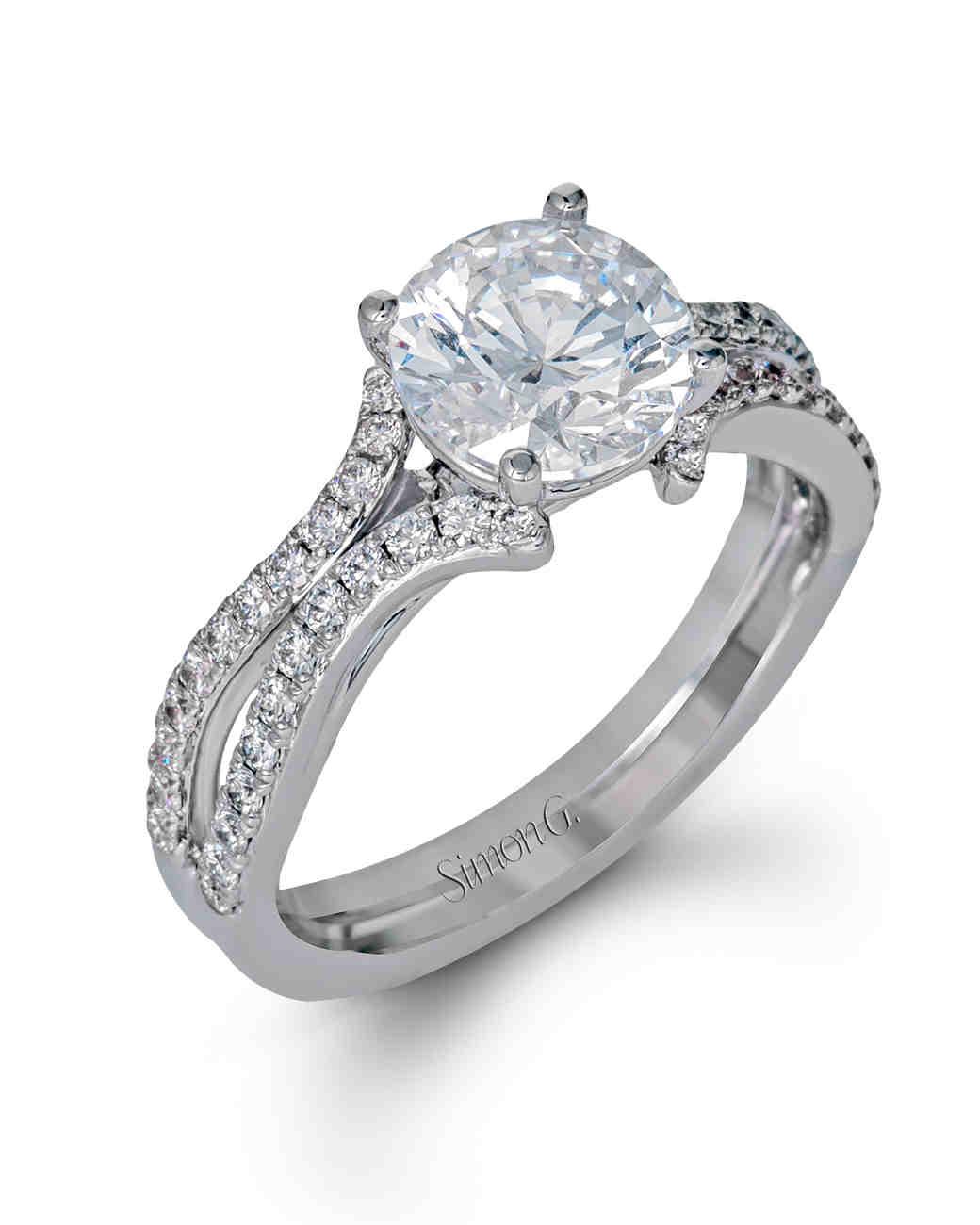 Simon G. White Gold Engagement Ring