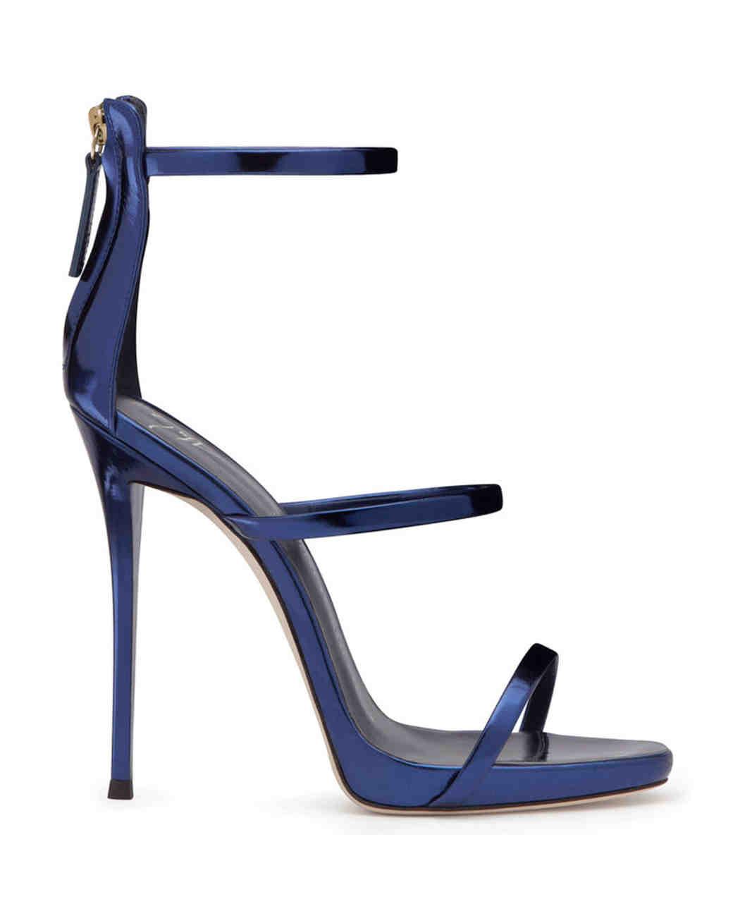 Giuseppi Zanotti Blue Patent Leather Sandals