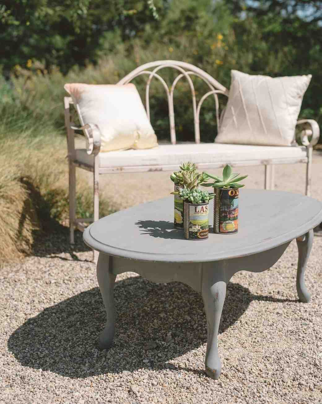 succulents on outdoor table
