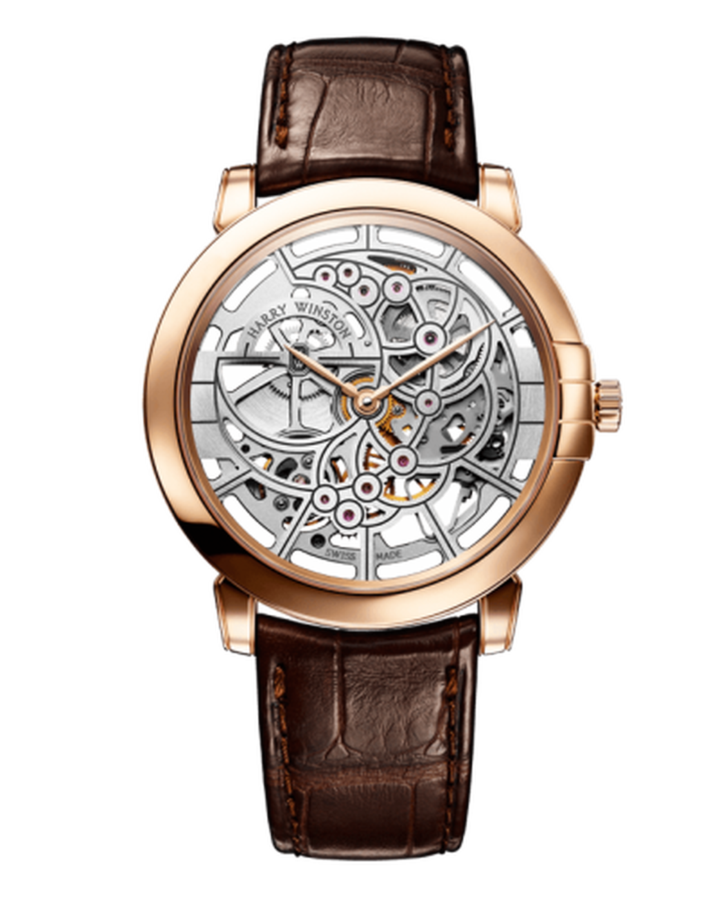 harry winston midnight skeleton watch