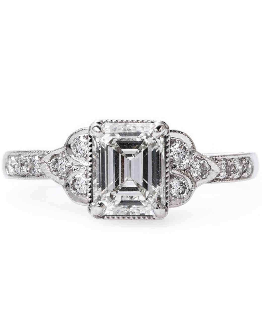 Claire Pettibone Emerald-Cut Engagement Ring