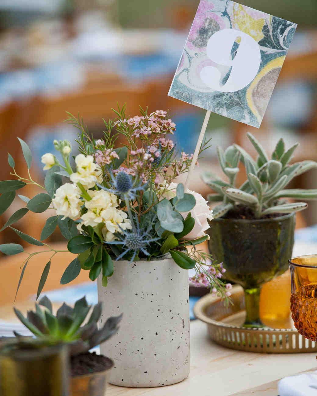 Eclectic Wedding Centerpiece