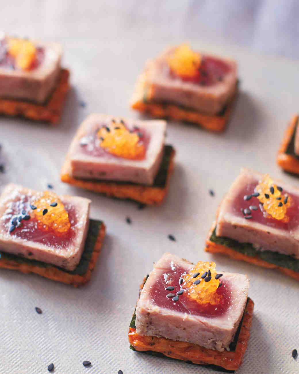 Wedding Finger Food Recipes: Seared Tuna Steak With Whitefish Roe
