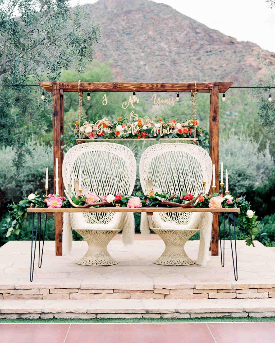 Bohemian Wedding Reception: A Bright Wedding In Arizona With Boho Touches
