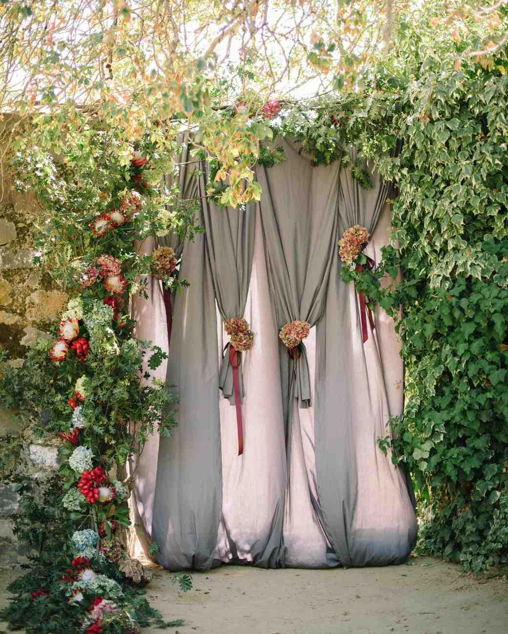 fabric doorway
