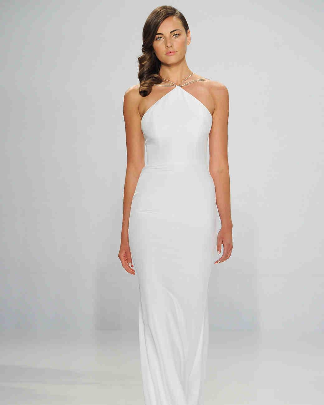Christian Siriano Halter-Neck Wedding Dress