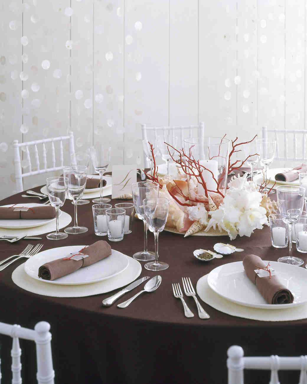 Cheap Garden Supplies Seaside Wedding Table Decorations