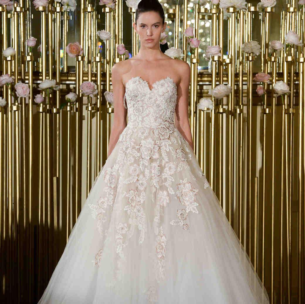 Francesca Miranda Strapless A-Line Wedding Dress Spring 2018