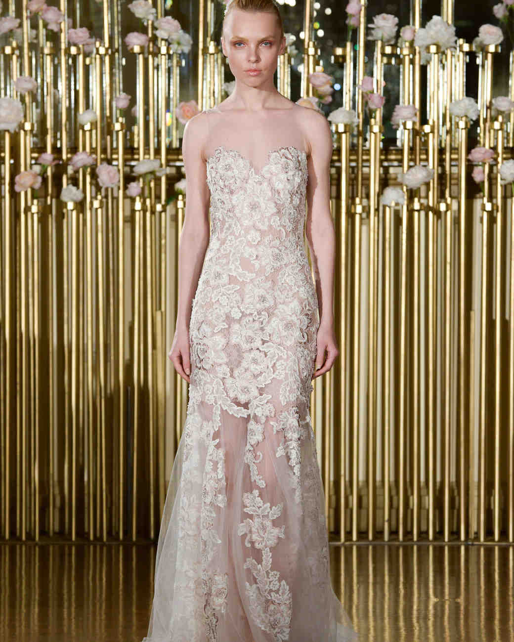 Francesca Miranda Strapless Wedding Dress with Lace Spring 2018