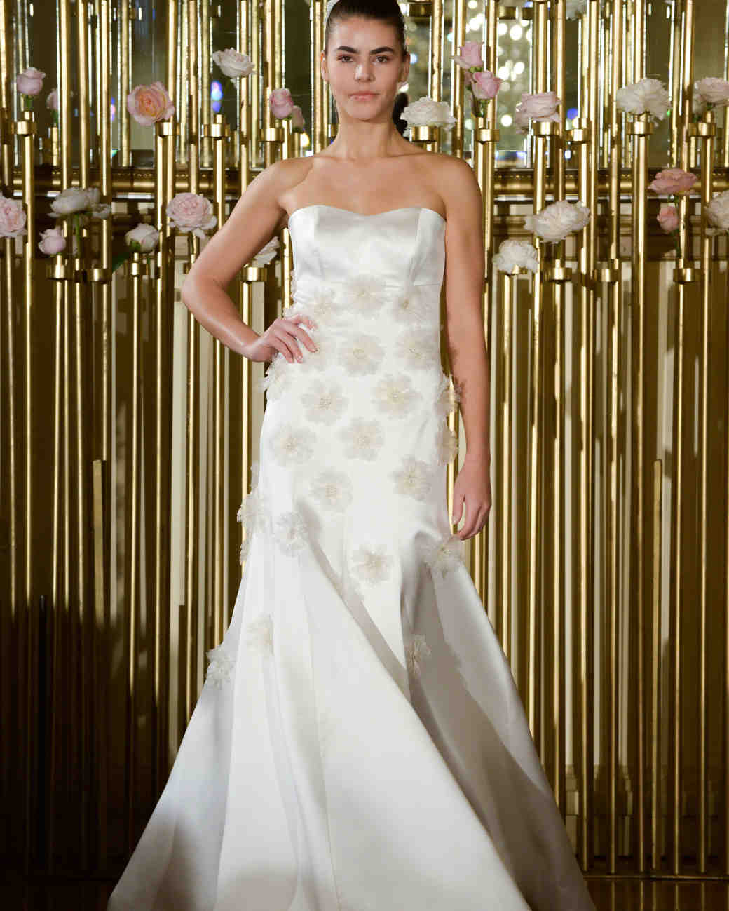 Strapless Francesca Miranda Trumpet Wedding Dress Spring 2018
