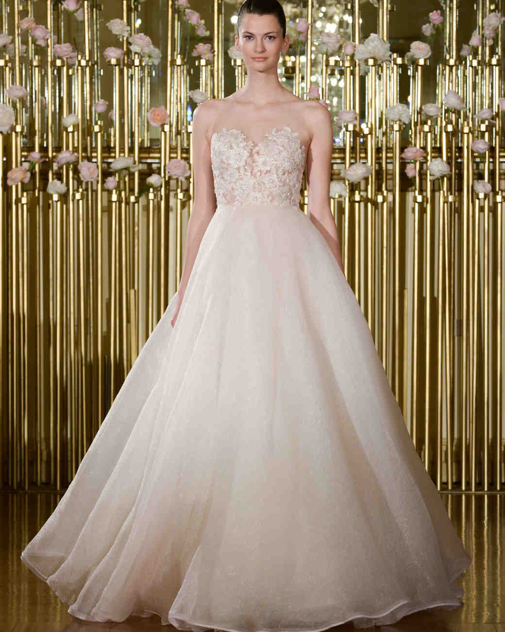 Strapless Francesca Miranda Ball Gown with Sweetheart Neckline Spring 2018