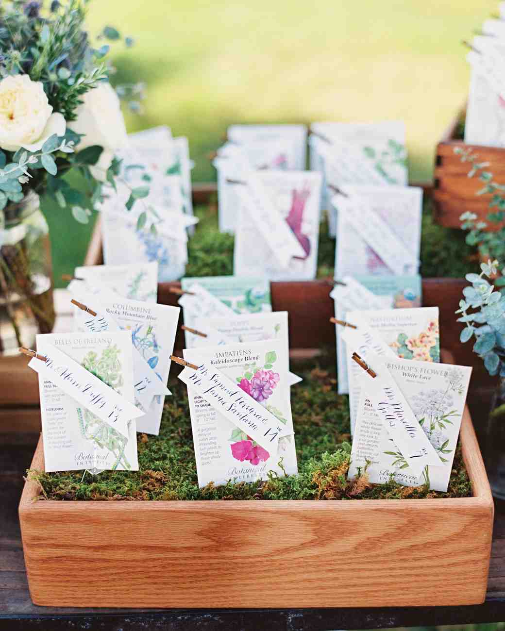 Insanely Creative Seating Cards and Displays | Martha Stewart Weddings