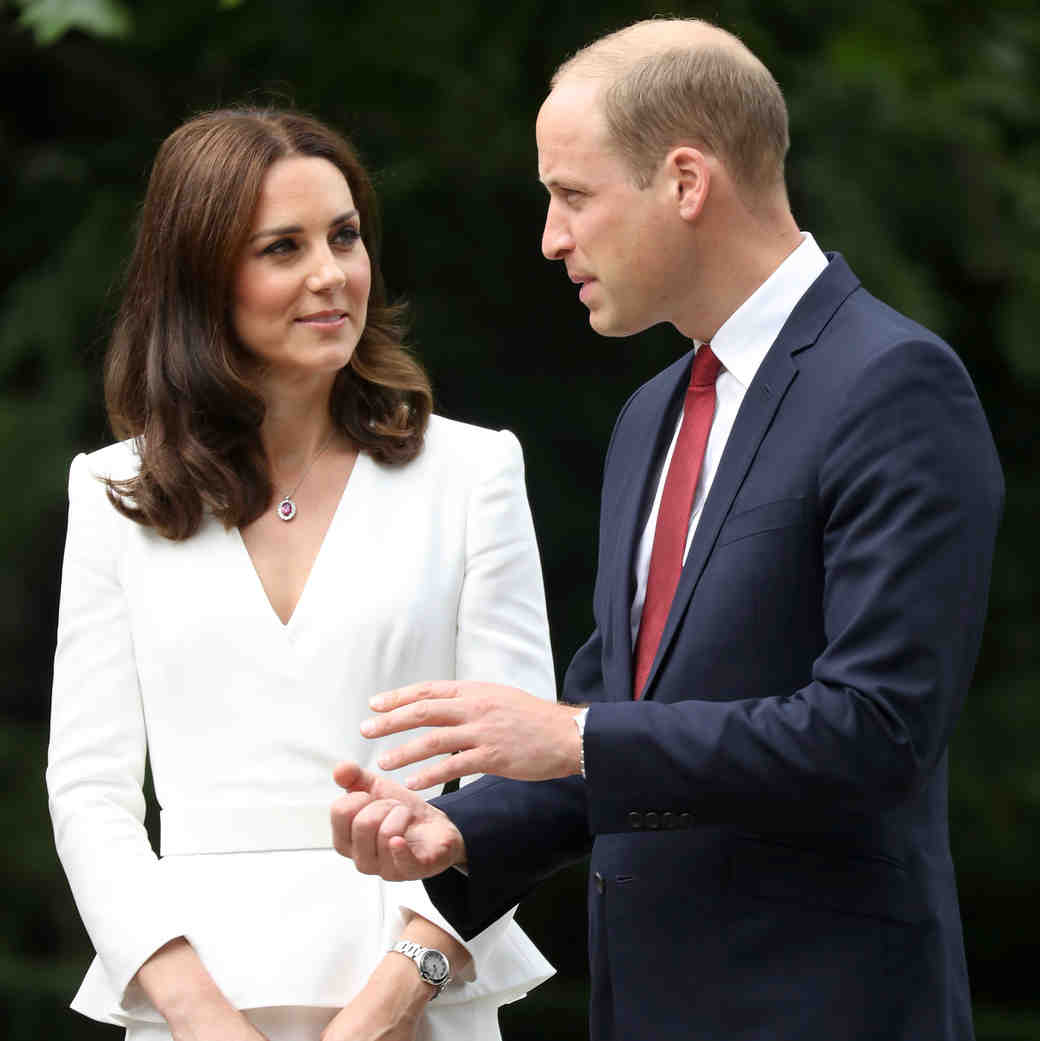 Kate Middleton in Alexander McQueen White Skirt Suit