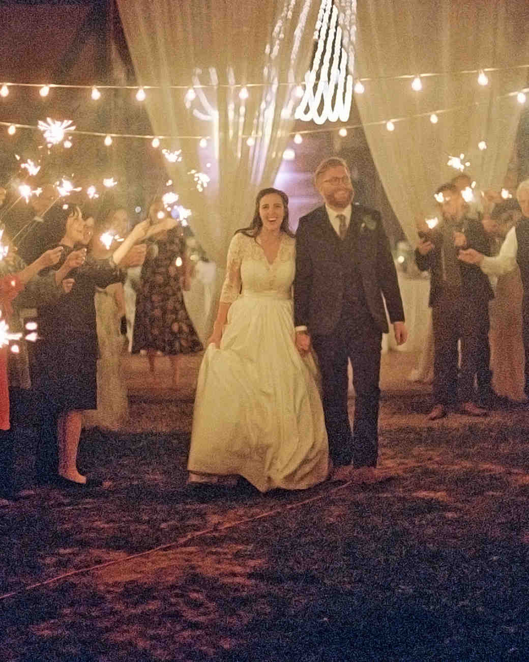 rachel elijah wedding sparklers