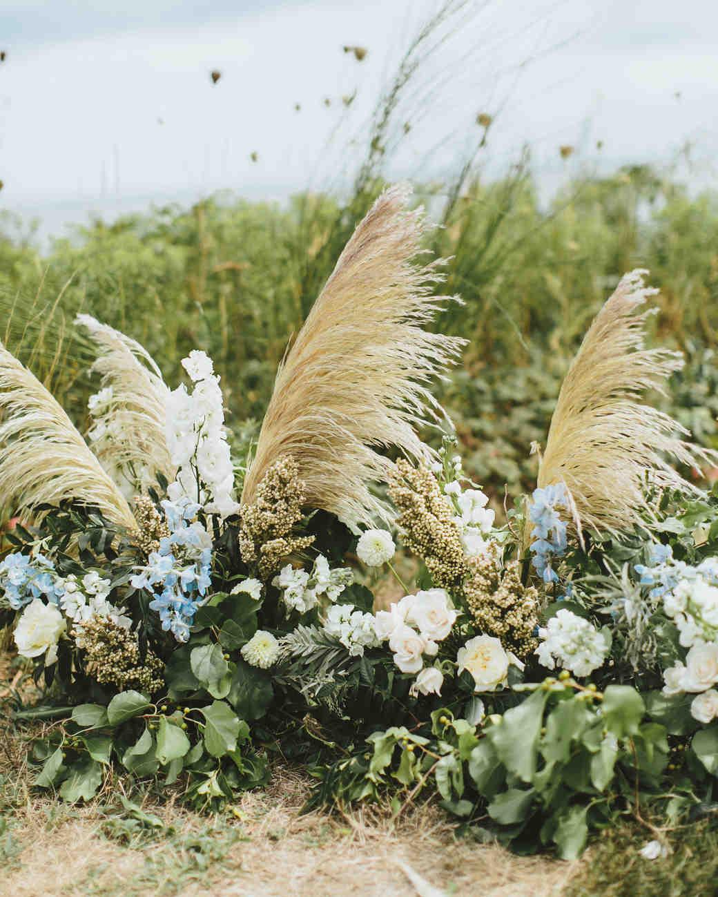 hadley corey wedding ceremony flowers