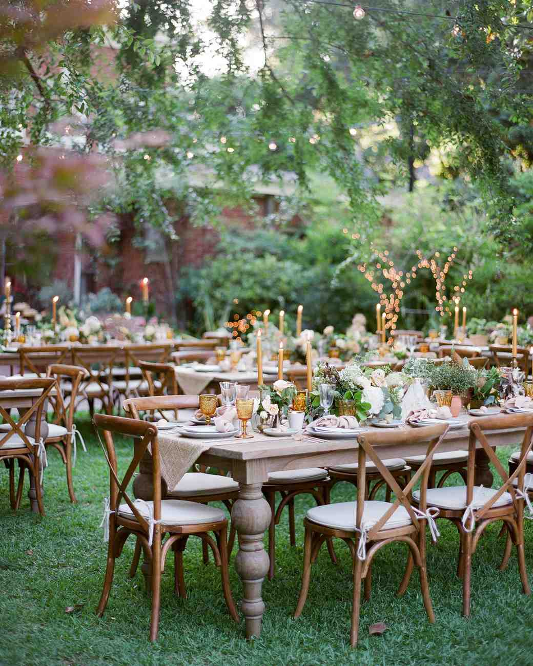outdoor reception tables