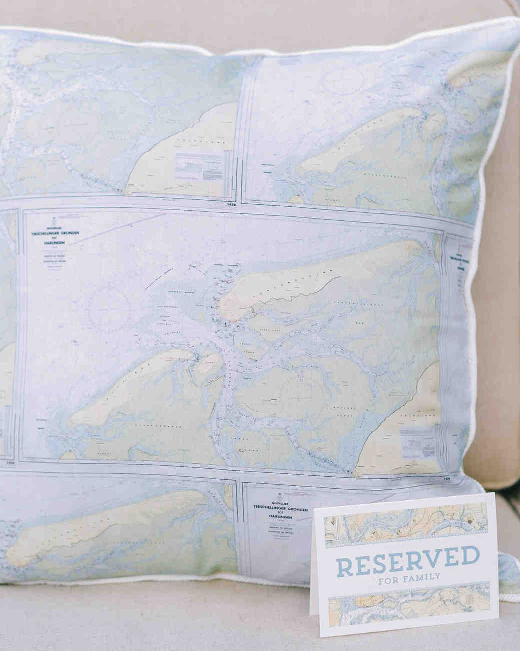 Nautical Map Pillow