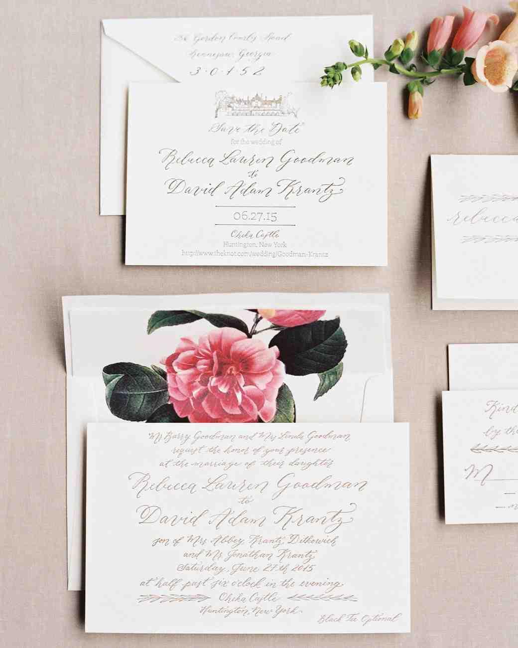 the freshest spring wedding invitations | martha stewart weddings, Wedding invitations