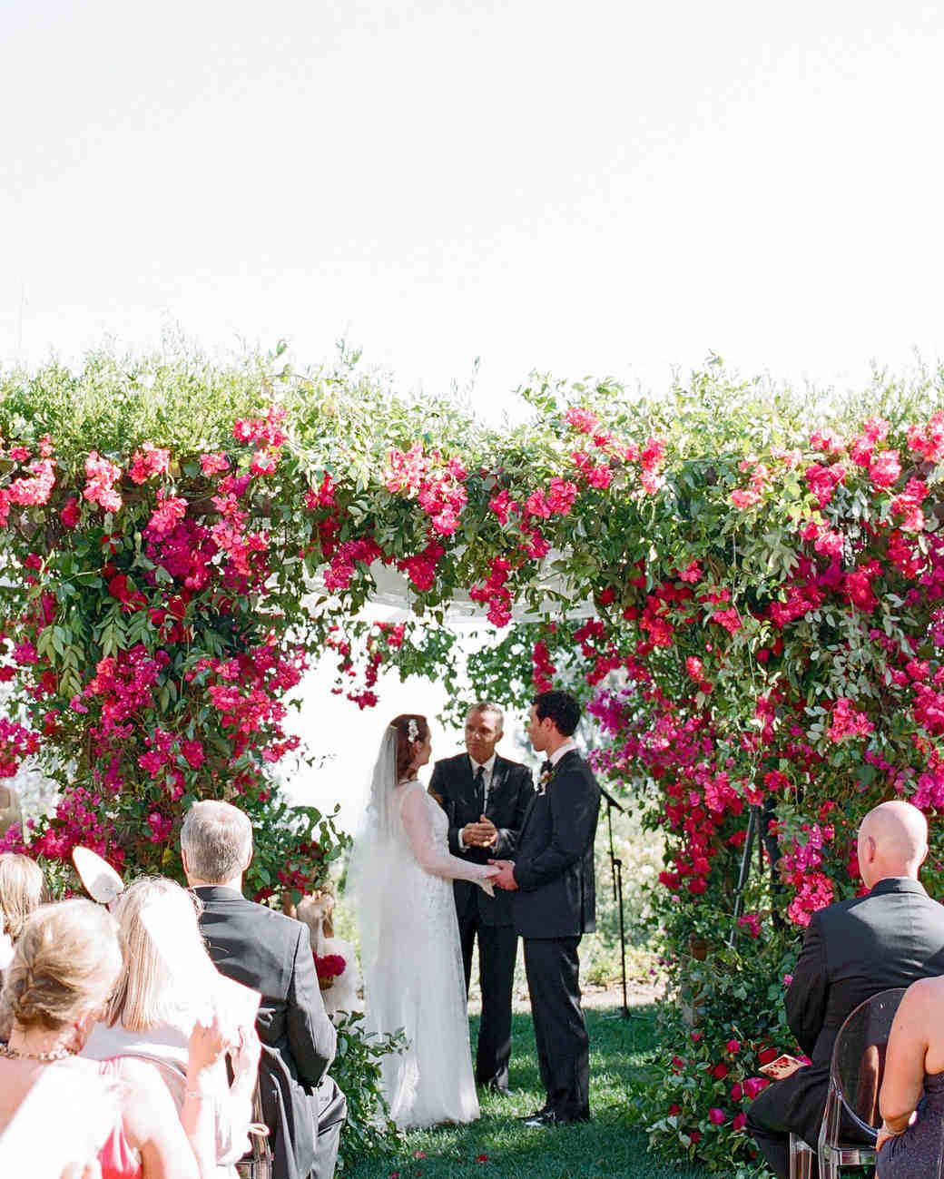 wedding ceremony with arch