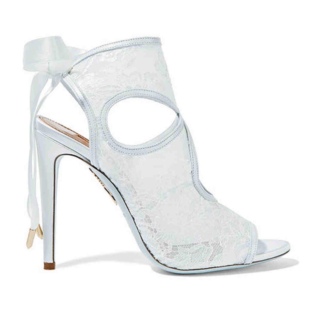 Aquazurra lace cutout sandals