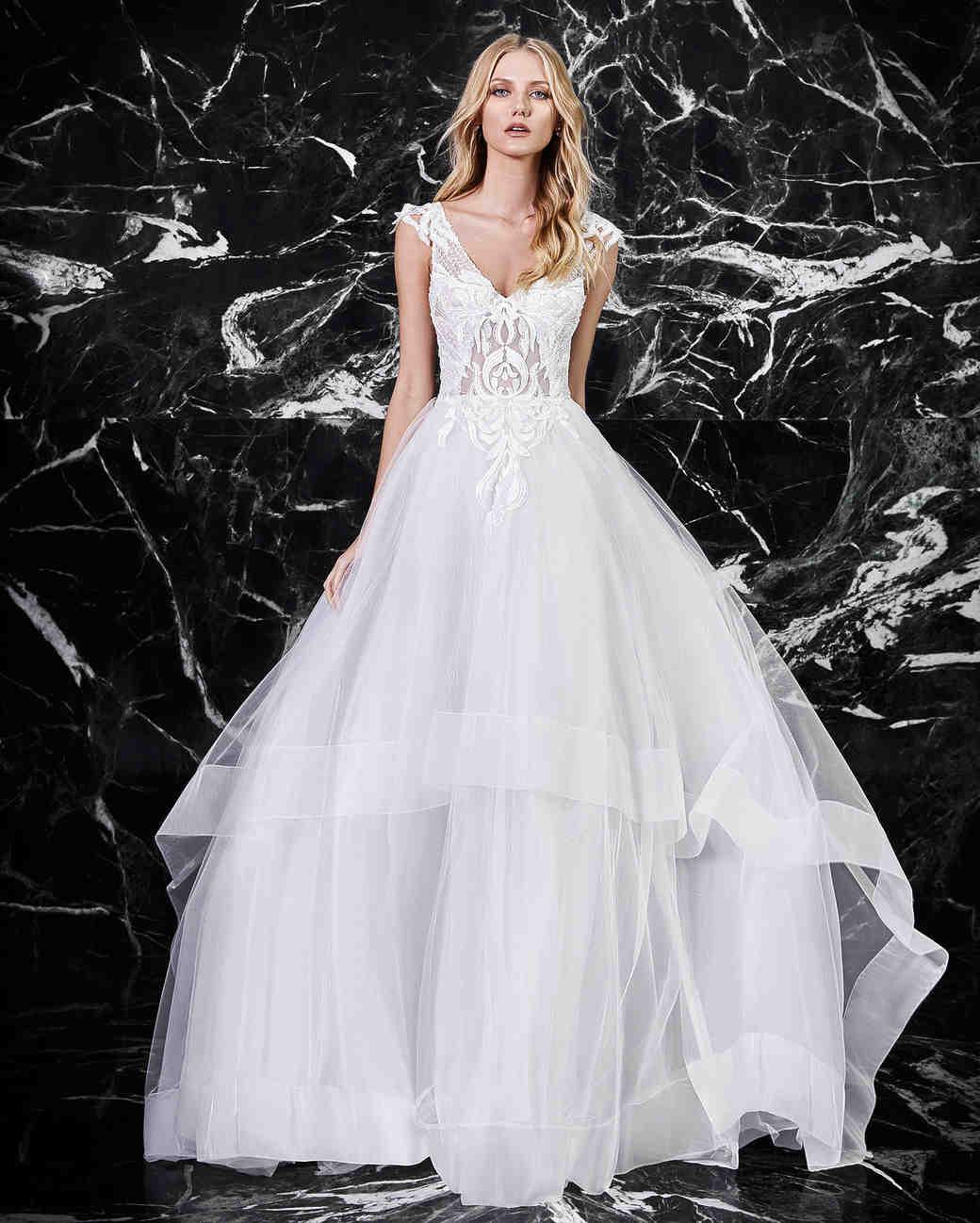 victoria kyriakides a-line v-neck wedding dress spring 2018