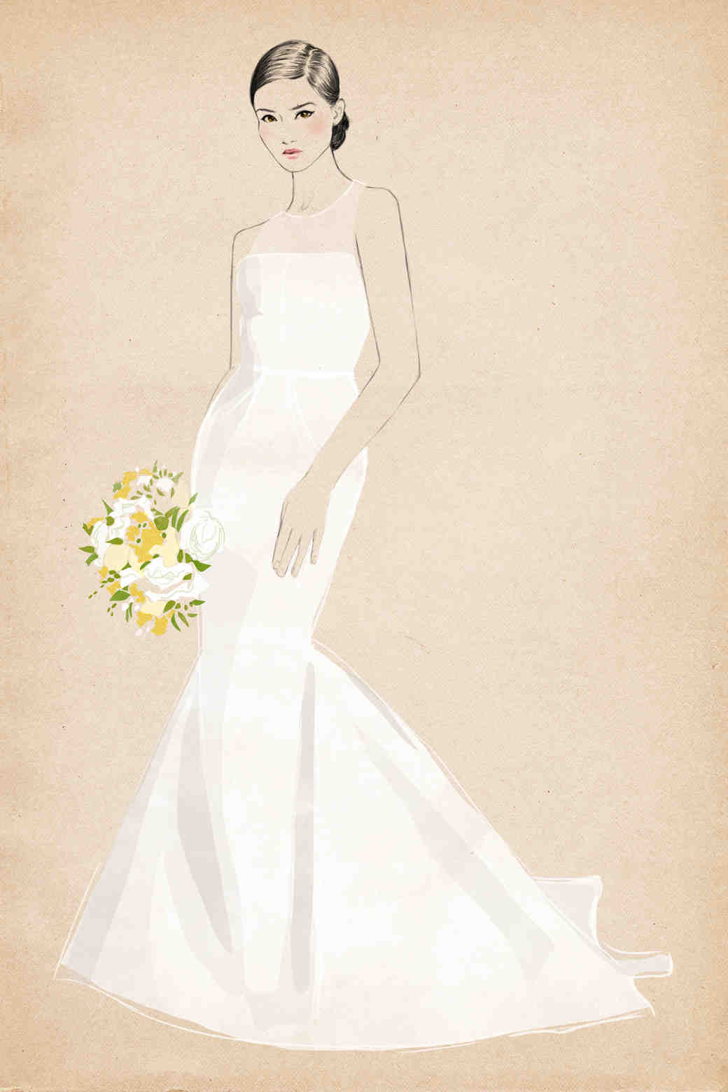 Learn Your Dress Silhouettes Martha Stewart Weddings