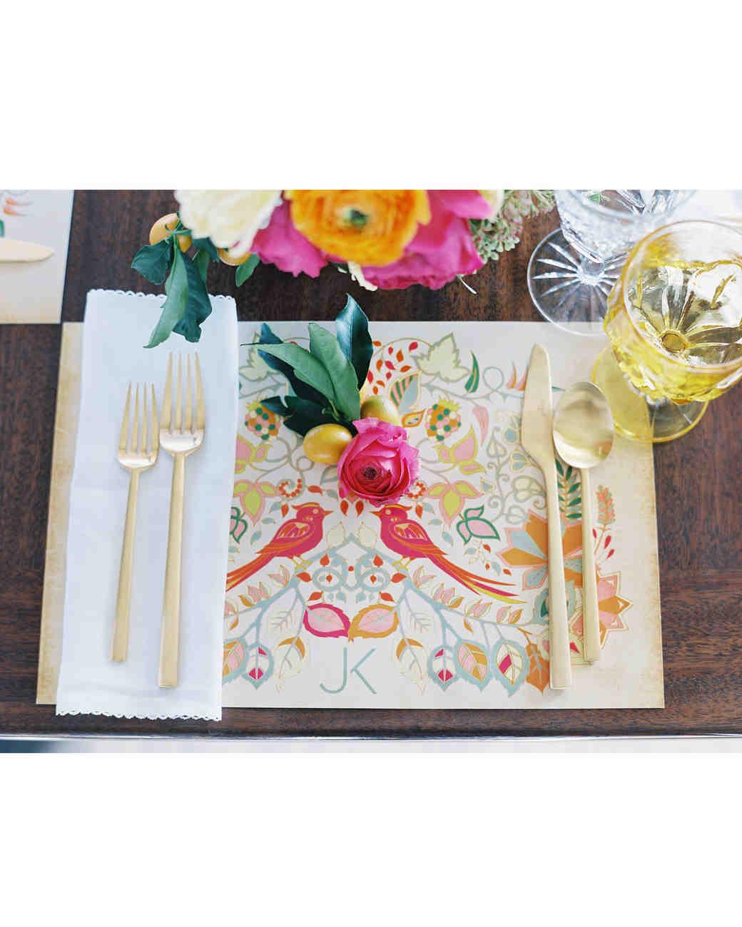 wedding placemat