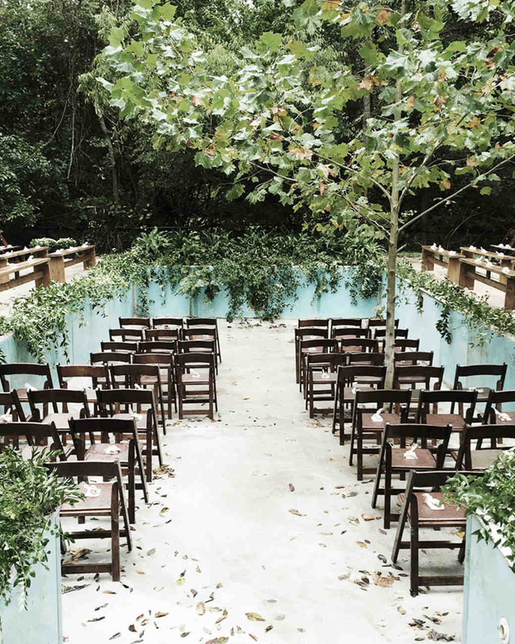 jessie tristan wedding tennessee ceremony pool