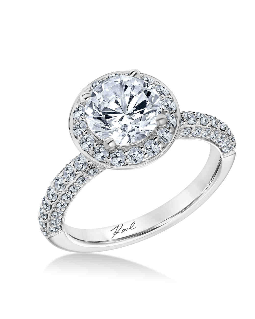 Karl Lagerfeld White Gold Engagement Ring