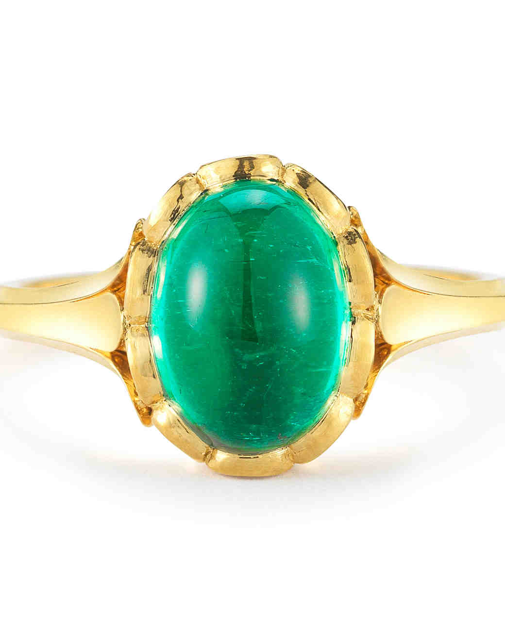 McTeigue & McClelland Emerald Engagement Ring