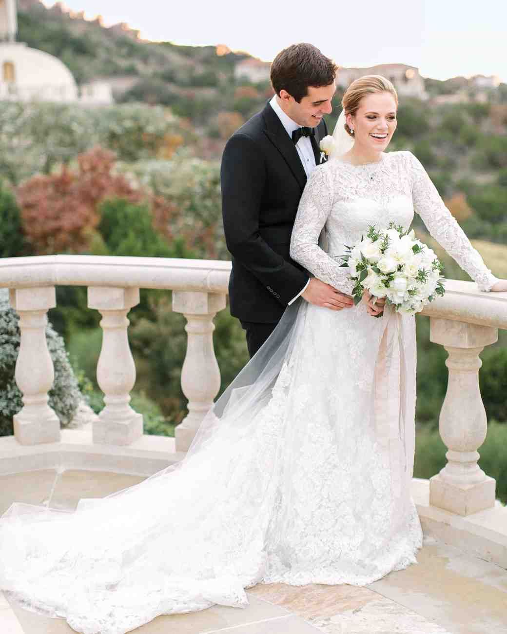 Winter Weddings: A Winter Wedding At A Villa In Austin