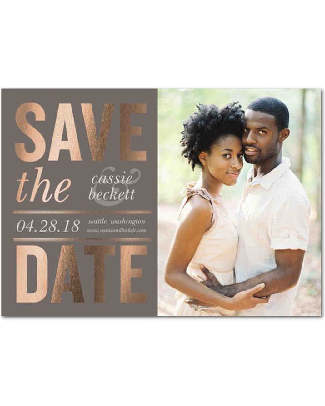 Stock Save-the-Dates That Look Totally Custom | Martha ...