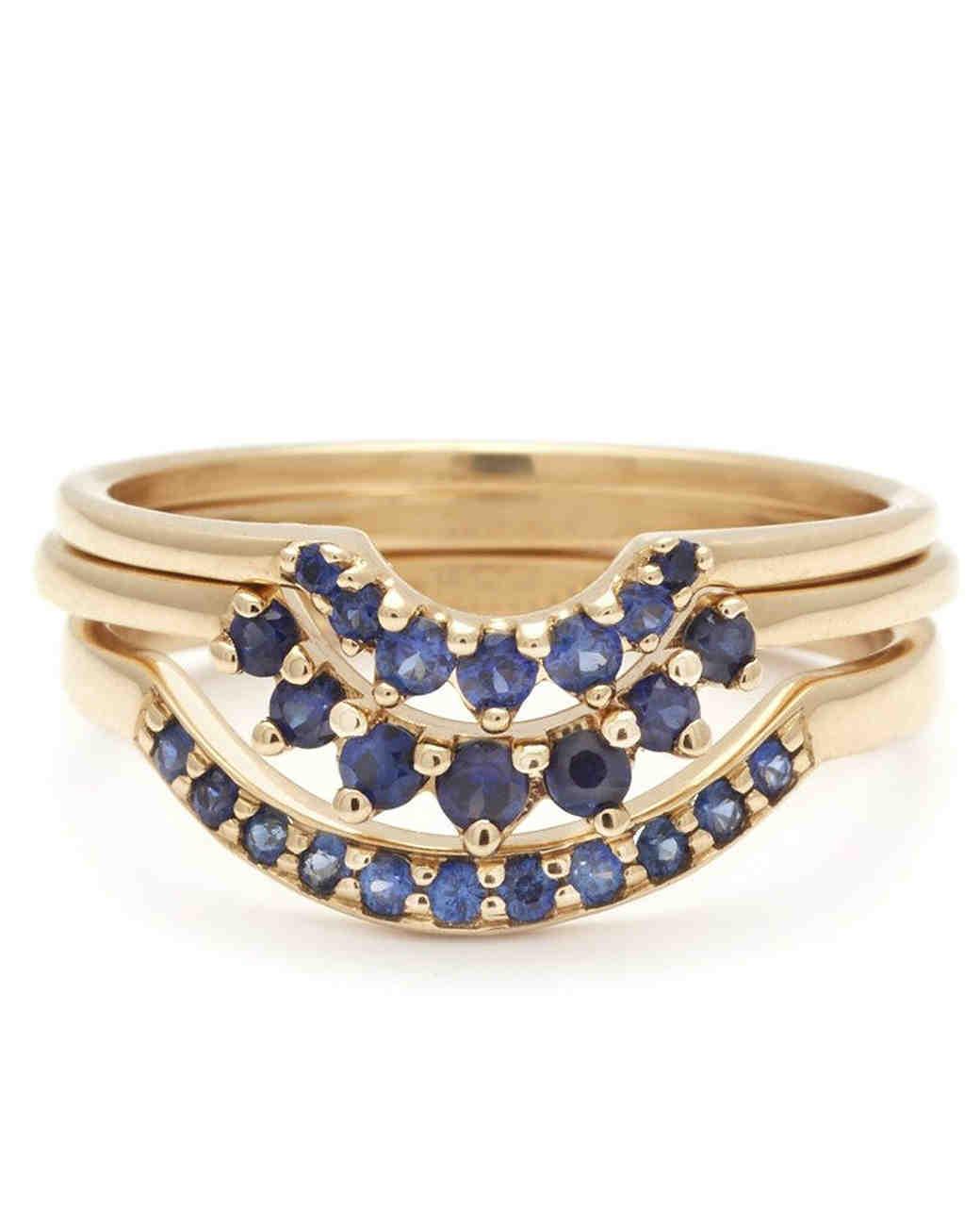 Anna Sheffield Sapphire Nesting Rings