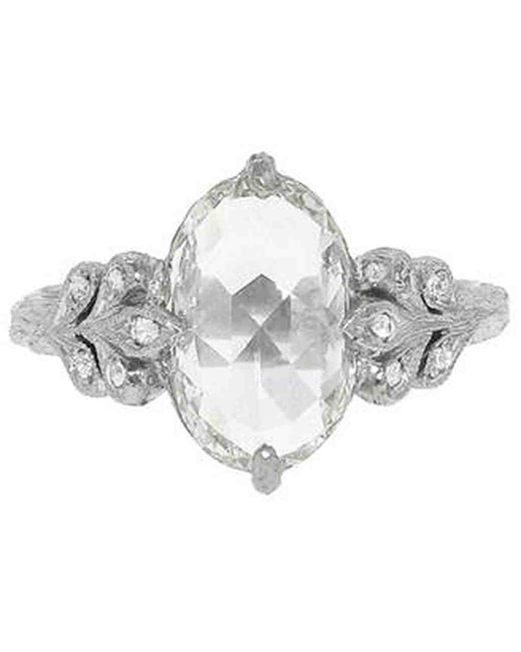 Cathy Waterman antique prong engagement ring