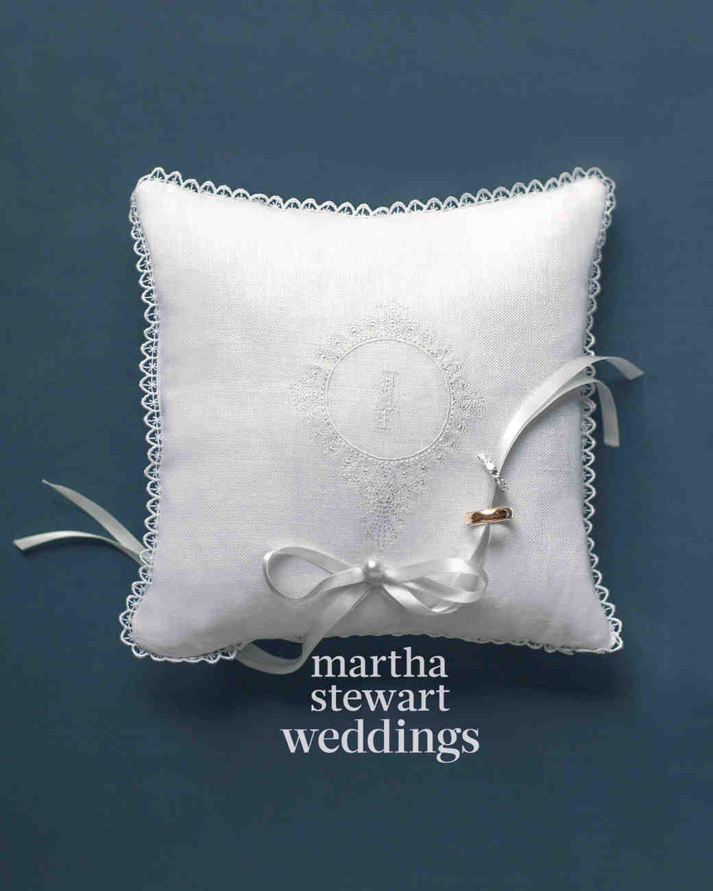 16 Stylish Wedding Ring Pillows Martha Stewart Weddings