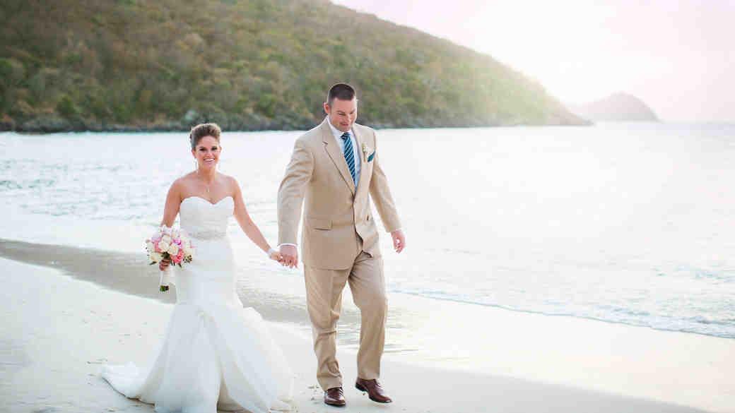 bride groom beach