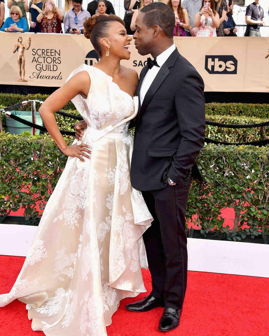 Sterling K Brown and Ryan Michelle Bathe Sag Awards 2017