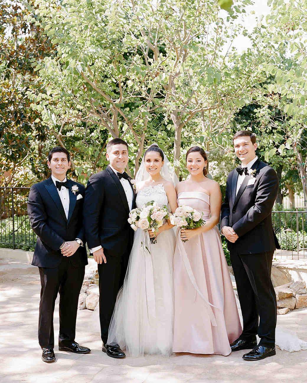aislinn eric wedding malibu bridesmaid groomsmen